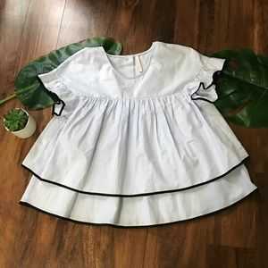 Zara Trafaluc Collection Tiered Blouse
